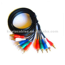 6FT COMPONENT AUDIO VIDEO CABLE 5 RCA HDTV DVD VCR