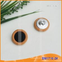 Tecido combinado coberto botão BM1716