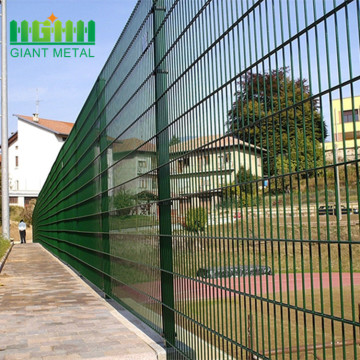 pvc+coated+welded+double+wire+fences+for+residental