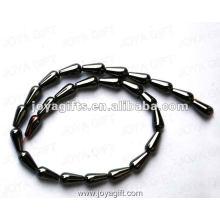 "6x12MM Loose Magnetic Hematite Drop Beads 16"""