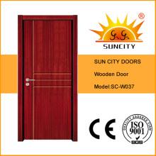 Porte intérieure simple en bois bon marché