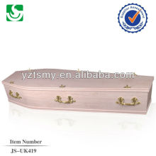 European style high quality solid wood coffin semi gloss