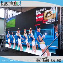 Écran mené extérieur de mur visuel d'utilisation de la location P6.25 LED