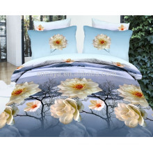 100% Polyester Microfiber Brushed Double Size China Textile Fabric Bed Sheet Set