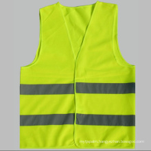 2 Pockets Neon Green Safety Vest with Reflective Strips ANSI/Isea Medium/High Visibility Fluorescent Yellow Green Reflective Safety Vest Factory