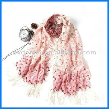 Lady vogue printing pure wool scarf