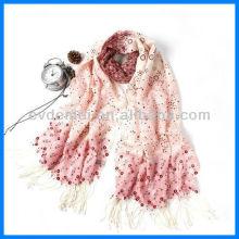 Леди моде печать чистого шерстяного шарфа