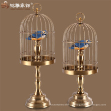 Großhandel eleganter rostfreier kupferner Vogelkäfig für Hochzeitsdekoration