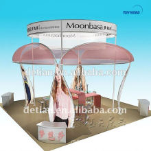 shanghai detian cosmetics exhibition booth with cosmetic show case and display shelves