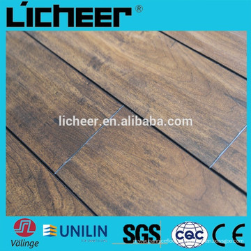 Indoor Laminate flooring fabricantes na China indoor imitado chão de madeira / clique fácil laminado piso