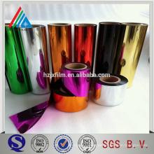 Farbüberzogene 25 Micron PET Metallisierte Folie