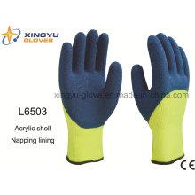 Acryl Shell Nickerchen Futter Latex 3/4 beschichteten Crinkle Finish Sicherheit Arbeitshandschuh (L6503)