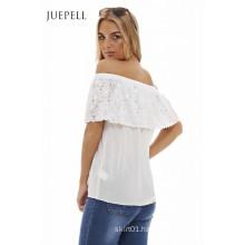 off Shoulder Women Lace Blouse