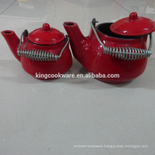 cast iron enamel mini tea pot