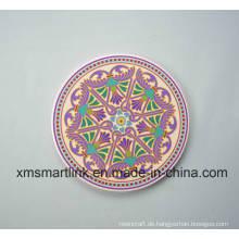 Andenken-runde keramische Tabellen-Untersetzer, keramische Fliesen-Andenken-Geschenke