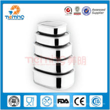 Boîte de rangement empilable en acier inoxydable