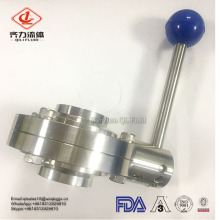 sanitary stainless steel 304/316L butterfly valve