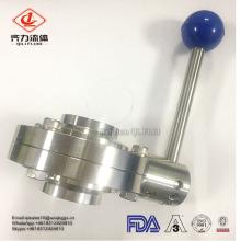 위생적인 스테인레스 스틸 304 / 316L 버터 플라이 밸브
