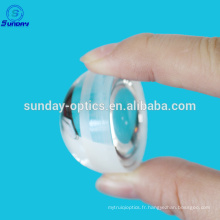 Fluorure de calcium (Caf2) Fabrication de lentilles Bi convexes