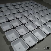 dessus d'évier de cuisine, évier de tablier de cuisine de surface solide acrylique, évier de cuisine bol rond
