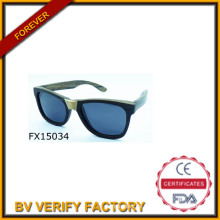 2015 handgemachte schwarzer Holzsonnenbrille & Fudan Gläser (FX15034)