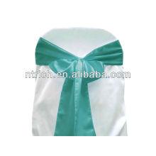Ceinture de chaise Satin turquoise, liens de chaise, enveloppements pour hotel banquet mariage