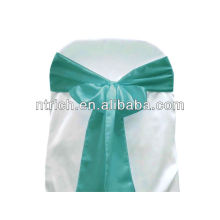 Turquoise Satin chair sash, chair ties, wraps for wedding banquet hotel
