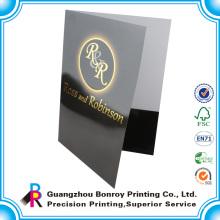 Impresión en offset a5 presentación de relieve carpeta de documentos de papel