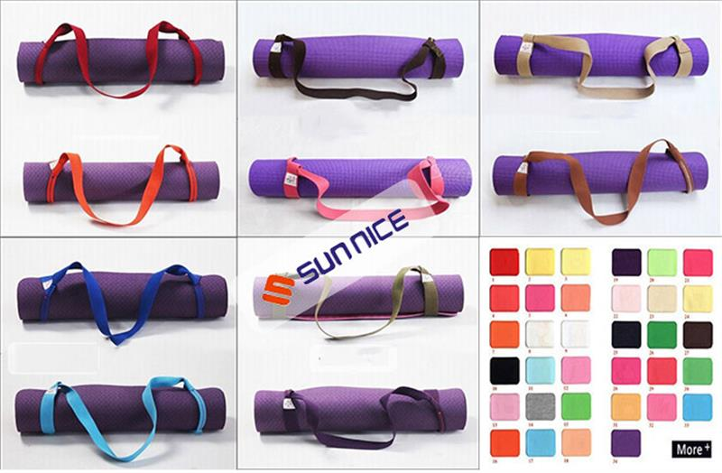 yoga mat belt colors