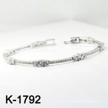 Fashion Silver Micro Pave CZ Bracelet (K-1792. JPG)