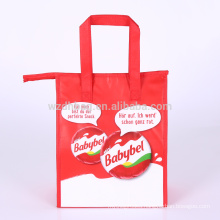 Large Reusable Wholesale Laminated Non Woven Lunch Bag Cooler Tote Bag With Handle