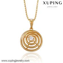 32554 xuping vente chaude en gros bijoux élégant dames bijoux synthétique CZ solitaire pendentif