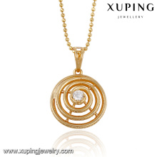 32554 xuping hot sale wholesale jewelry elegant ladies jewelry synthetic CZ solitaire pendant