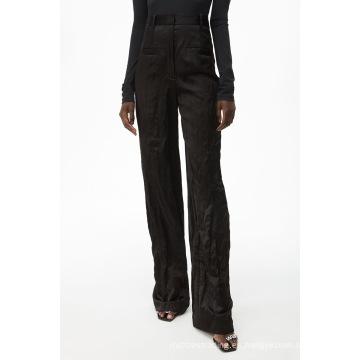 Novedades Pantalones de trabajo ajustados negros Lightwight