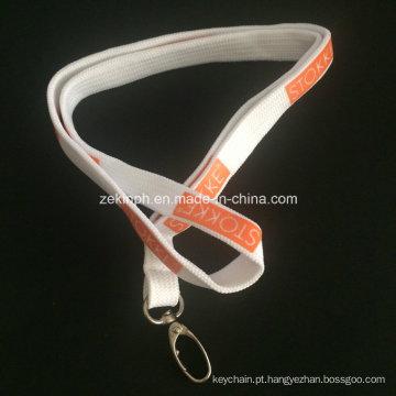 Correia tubular com logotipo feito sob encomenda da impressão para presentes relativos à promoção