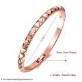 Einfache Design 18k Rose Gold Frauen Armreif
