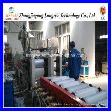 Máquina de hoja de alta calidad eficiente de la hoja del venda del borde del extrusor / del PVC de 400-600m m con la cortadora y la línea de impresión