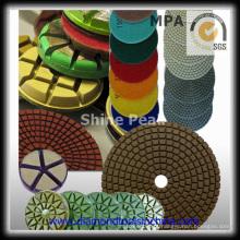 Almofadas de polimento de piso de concreto de diamante
