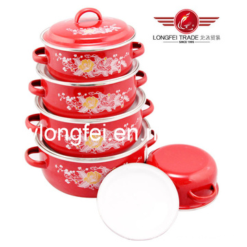 Hot Sale 5PCS Enamelware Cookware Set