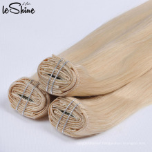 Double Drown Russian Clip Human Hair Extension Virgin Cuticle Aligned