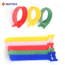 New style nylon printed hook and loop cable tie