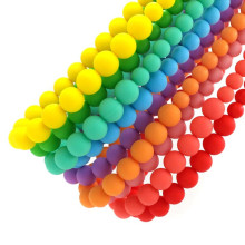Soft Baby Chewable Necklace Fashion Cord Beads Silicone Teething Necklace