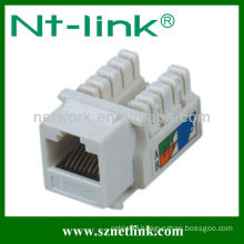 Dual IDC White Color Cat6 Keystone Jack