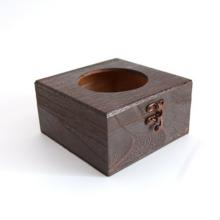 caja de pañuelos de mesa de madera