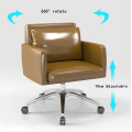 Low Back PU Leather Rotating Leisure Chair