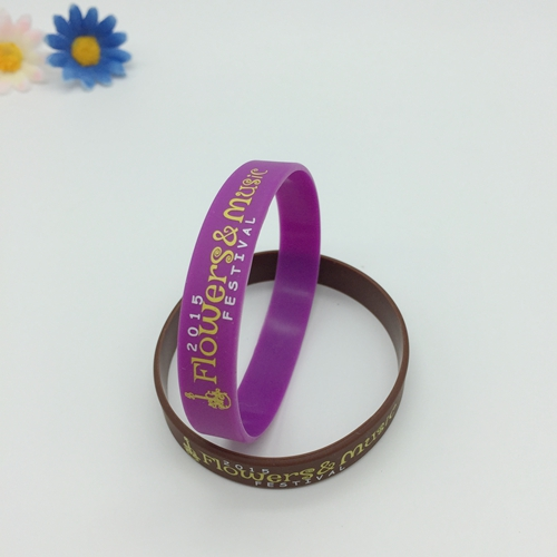 Imprinted silicone wristbands