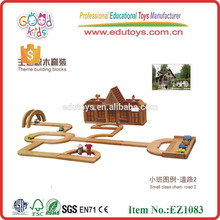 326pcs Natural Rubberwood Kids Toy Wooden Blocks House