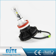 X3 50w 6000lm vehicle lights with CE Rohs 2 years warranty car auto bulb h8 h9 h11 led