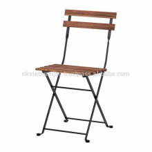 Marco de acero de madera natural conveniente para los muebles al aire libre en el jardín