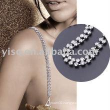 two row jewelry bra strap